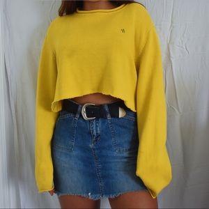 Vintage Yellow Ralph Lauren Cropped Sweater